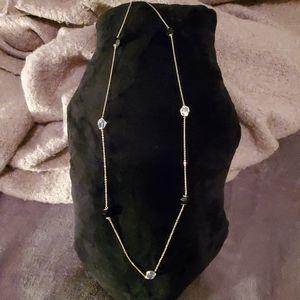 Black and White Swarovski Crystal Necklace